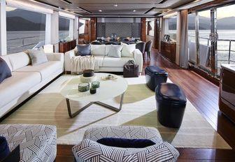 The interior of luxury yacht KOHUBA