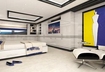 Cabin on board superyacht PAPA