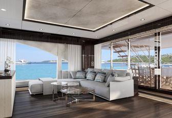 the aft salon of charter yacht happy me by benieti
