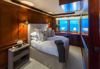 modern-classic master suite aboard charter yacht PIONEER