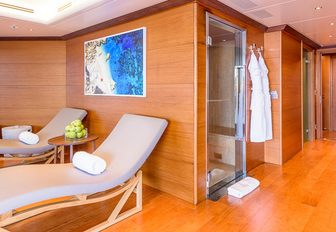 spa facilities on the flybridge of superyacht BOADICEA