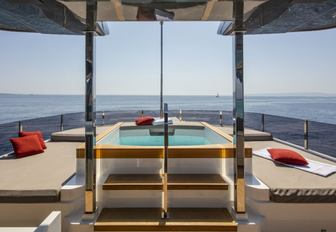 the swimming pool of charter yacht penelope