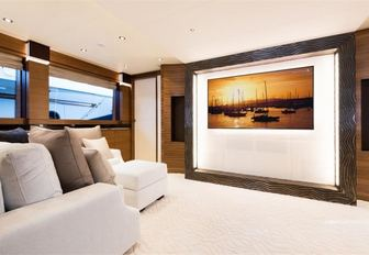 The interior styling of charter yacht 'Silver Wind'