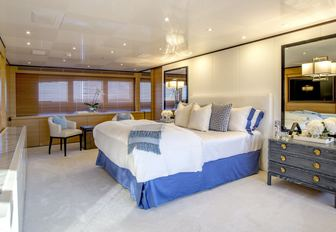The guest accommodation on board superyacht MISCHIEF