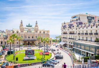 the centre of Monte Carlo, Monaco, during the Monaco Grand Prix