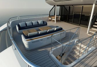 Seating area on SOARING yacht