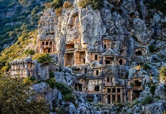 the ancient ruins of Myra are a popular tourist destination especially among those on a luxury yacht charter