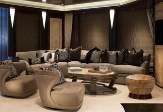 The sophisticated interior of luxury yacht KISMET