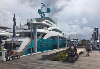 superyacht ANKA on display at the Palm Beach Boat Show 2017