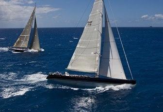 sailing yacht P2 prepares for the the 2017 St Barths Bucket Regatta