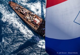 aerial view of yacht at the St Barths Bucket 2017