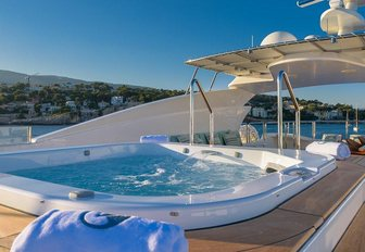 The Jacuzzi on board superyacht 'Africa I'