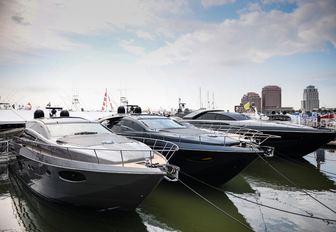 Riva yachts line up at the Palm Beach Boat Show 2017
