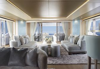 light, tranquil and airy skylounge on board motor yacht ARADOS