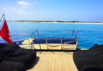 Seating on decking of charter yacht NEOPRENE