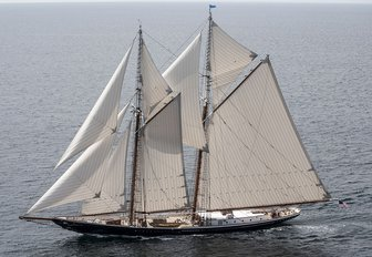 charter yacht COLUMBIA will be competing at the Antigua Classic Yacht Regatta 2018