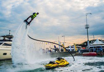 live flypack demonstration at the Thailand Yacht Show