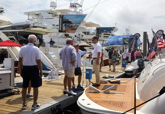 show-goers check out the yachts on show at the Palm Beach Boat Show 2018