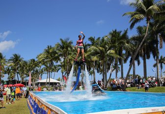 flypack demonstration at the Palm Beach Boat Show in Florida