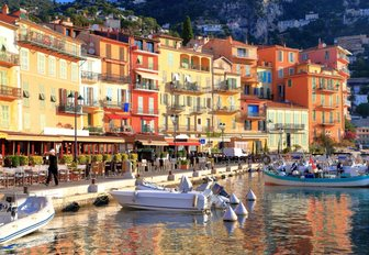 St Tropez waterfront along the French Riviera