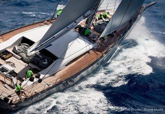 sailing yacht WINWIN at St Barths Bucket 2017