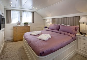 The guest accommodation available on board superyacht HARMONYA