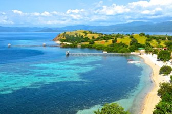 View of beach in Flores, Indonesia