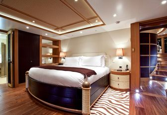 One of two Polynesian-themed VIP suites aboard superyacht HEMISPHERE