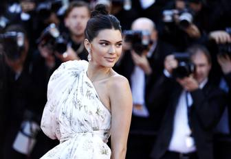 Kendal Jenner has her photo taken on the red carpet at the Cannes Film Festival