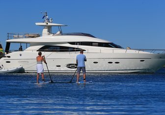 Sophia charter yacht interior designed by Dixon Yacht Design