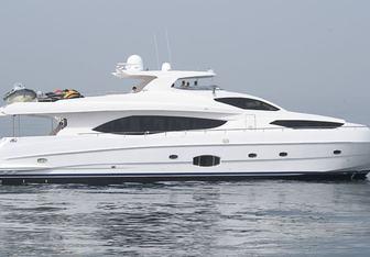 Infinity 7 charter yacht interior designed by CDB Yacht Design & Gulf Craft