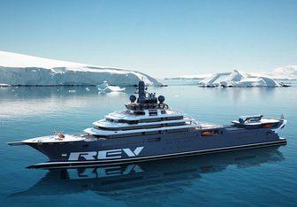 REV Ocean charter yacht exterior designed by Espen Oeino