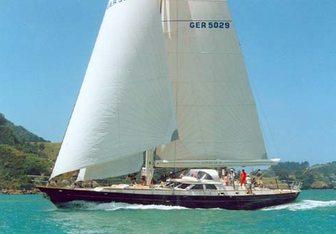 Tiga Belas charter yacht interior designed by Dixon Yacht Design