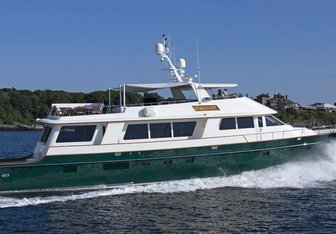 Starlight charter yacht exterior designed by C. Raymond Hunt Associates