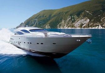 Peter K yacht charter Pershing Motor Yacht