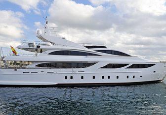 Samurai One charter yacht interior designed by Cristiano Gatto Design