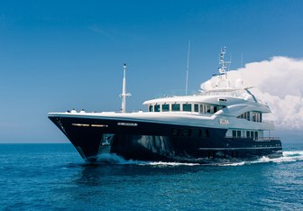 Amadeus charter yacht interior designed by Vripack