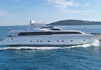 Princess Lona yacht charter Tecnomar Motor Yacht