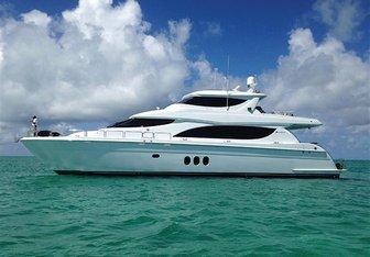 Wreckless yacht charter Hatteras Motor Yacht