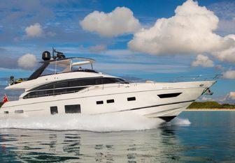 Quenn F yacht charter Princess Motor Yacht