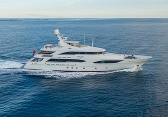 Avalon charter yacht exterior designed by Delta Design Group
