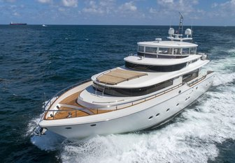Sixty Six charter yacht interior designed by Dixon Yacht Design