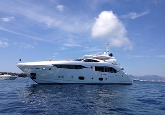 King Charles II yacht charter Sunseeker Motor Yacht