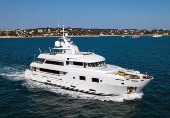 Tommy Belle charter yacht exterior designed by Egg and Dart
