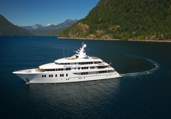 Invictus charter yacht exterior designed by Delta Design Group