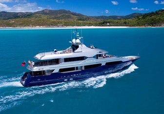 Princess Iluka charter yacht exterior designed by Bernie Cohen Design