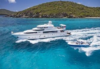 She's A Peach yacht charter Johnson Yachts Motor Yacht