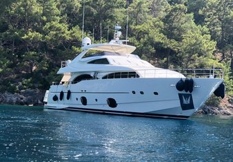 Funda D charter yacht interior designed by Argent Design