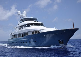Fore Aces charter yacht exterior designed by Delta Design Group
