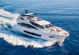 Blue Infinity yacht charter Sunseeker Motor Yacht